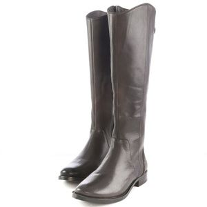 Arturo Chiang Dark Brown Leather Knee High Boots
